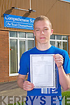 Leaving certificate student Paul Hanlon, Tarbert Comprehensive School  who received 580 points in his leaving certificate on Wednesday
