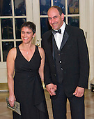 Philanthropist Naomi Aberly and Larry Lebowitz arrives for the State Dinner in honor of Prime Minister Trudeau and Mrs. Sophie Gr&eacute;goire Trudeau of Canada at the White House in Washington, DC on Thursday, March 10, 2016.<br /> Credit: Ron Sachs / Pool via CNP