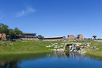 A wide shot of the waterfall and small lake on 18 during Round 4 of the Valero Texas Open, AT&amp;T Oaks Course, TPC San Antonio, San Antonio, Texas, USA. 4/22/2018.<br /> Picture: Golffile | Ken Murray<br /> <br /> <br /> All photo usage must carry mandatory copyright credit (&copy; Golffile | Ken Murray)