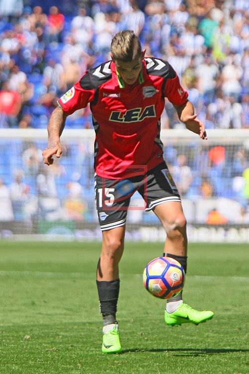 League Santander 2016/2017. Game: 31.<br /> RCD Espanyol vs Deportivo Alaves: 1-0.<br /> Theo.