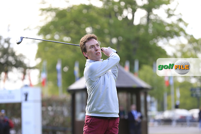 Snooker Champion Ken Doherty on Mikko Illonen's (FIN) team in action during Wednesday's Pro-Am of the 2016 Dubai Duty Free Irish Open hosted by Rory Foundation held at the K Club, Straffan, Co.Kildare, Ireland. 18th May 2016.<br />