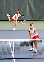 STANFORD, CA - January 29, 2011:  Nicole Gibbs and Kristie Ahn during Stanford's 6-1 victory over Oklahoma at Stanford, California on January 29, 2011.