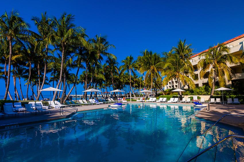 Swimming pool, Ritz-Carlton Casa Marina Hotel, Key West, Florida Keys, Florida USA