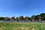 BMC Racing Team in action during Stage 3 of the 2018 Tour de France a Team Time Trial running 35.5km from Cholet to Cholet (35,5km, France. 9th July 2018. <br /> Picture: ASO/Alex Broadway | Cyclefile<br /> All photos usage must carry mandatory copyright credit (&copy; Cyclefile | ASO/Alex Broadway)