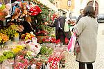 Andalucia, Andalusia, Cadiz, Cadiz-City, Europe, Geography, Spain, Andalusien, Cadiz-Stadt, Europa, Geografie, Spanien, Costa de la Luz, Bluetenpflanze, Blume, Blumen, Blumenstraeusse, Blumenstraeuße, Blumenstrauss, Blumensträusse, Blumenstrauß, Blumensträuße, Blütenpflanze, Blütenpflanzen, Botanik, Brautstrauss, Flora, Hochzeitsstraus, Lebewesen, Natur, Schnittblumen, Vegetation, botanic, botany, bunch of flowers, flower, flowering plant, flowering plants, living being, nature, flower's market, localities, markets, Blumenmarkt, Maerkte, Märkte, Örtlichkeiten, people, Leute, Menschen, Kunden, customers