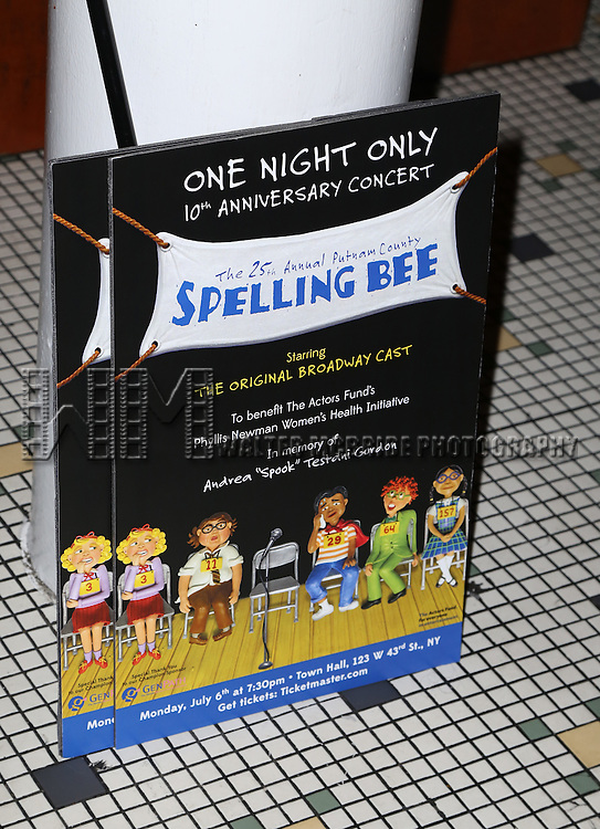 The After Party for the One Night Only 10th Anniversary Concert of 'The 25th Annual Putnam County Spelling Bee' at Town Hall on July 6, 2015 in New York City.