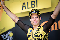 Tour debutant Wout Van Aert (BEL/Jumbo Visma) wins stage 10 into Albi.<br /> <br /> Stage 9: Saint-Flour to Albi (217.5km)<br /> 106th Tour de France 2019 (2.UWT)<br /> <br /> ©kramon
