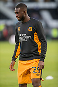 8th September 2017, Pride Park Stadium, Derby, England; EFL Championship football, Derby County versus Hull City; Fikayo Tomori of Hull City warming up before the match