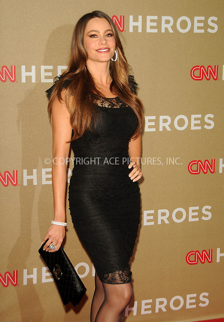 WWW.ACEPIXS.COM . . . . .  ....December 11 2011, LA....Sofia Vergara arriving at 2011 CNN Heroes: An All-Star Tribute at The Shrine Auditorium on December 11, 2011 in Los Angeles, California.....Please byline: PETER WEST - ACE PICTURES.... *** ***..Ace Pictures, Inc:  ..Philip Vaughan (212) 243-8787 or (646) 679 0430..e-mail: info@acepixs.com..web: http://www.acepixs.com