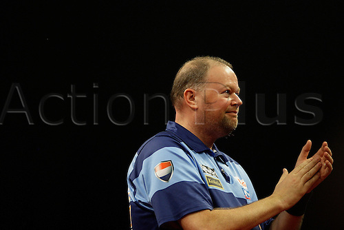 27.03.2014, Dublin Ireland,  Raymond van Barneveld action against   Phil Taylor PDC Darts Premier League from the O2 Arena, Dublin, Ireland