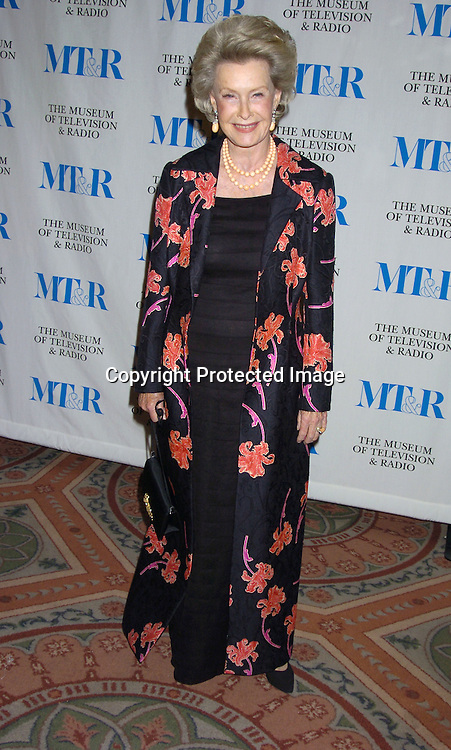 Dina Merrill ..at The Museum of TV and Radio New York Gala  honoring  Merv Griffin on May 26, 2005 at The Waldorf Astoria Hotel...Photo by Robin Platzer, Twin Images