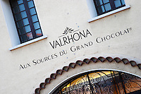 chocolate manufacturer and shop valrhona tain l hermitage rhone france