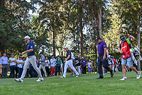 Dustin Johnson (USA), Justin Thomas (USA), and Phil Mickelson (USA) head down 8 during round 1 of the World Golf Championships, Mexico, Club De Golf Chapultepec, Mexico City, Mexico. 2/21/2019.<br /> Picture: Golffile | Ken Murray<br /> <br /> <br /> All photo usage must carry mandatory copyright credit (© Golffile | Ken Murray)