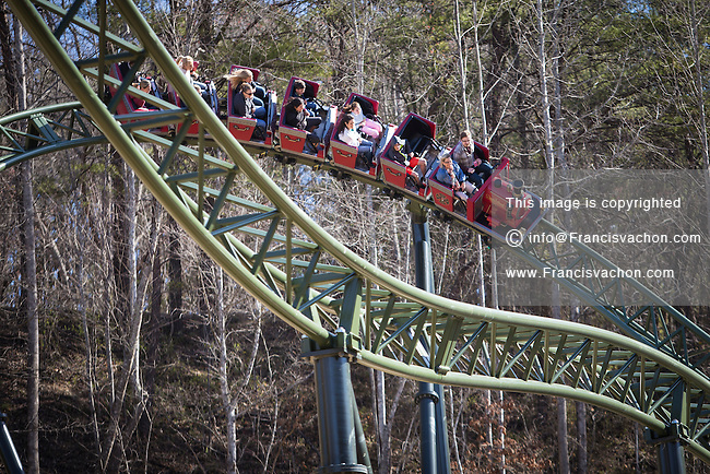 Dollywood theme park - FireChaser Express roller coaster