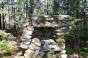 The remnants of an old stone fireplace near Cold Brook just off the Amphibrach Trail in Randolph, New Hampshire USA.