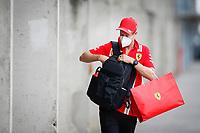 17th July 2020, Hungaroring, Budapest, Hungary; F1 Grand Prix of Hungary,  free practise sessions;  5 Sebastian Vettel GER, Scuderia Ferrari Mission Winnow  arrives at track in Budapest Hungary