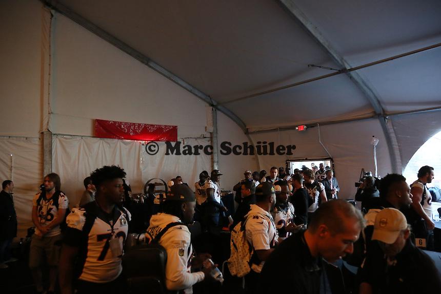 Denver Broncos kommen zur Pressekonferenz - Super Bowl 50 Denver Broncos PK, Marriott Santa Clara
