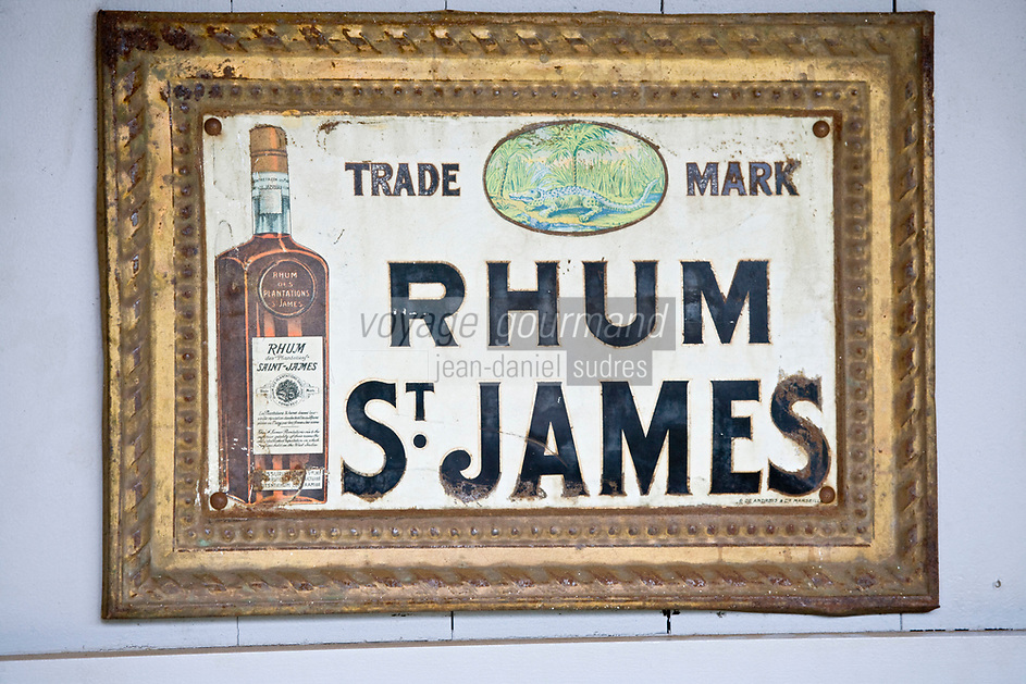 France/DOM/Martinique/Sainte-Marie: Rhumerie Saint-James AOC Rhum de la Martinique- Musée du Rhum- Ancienne publicité