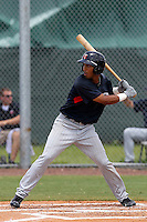 Eddie Rosario (77) Outfielder for the GCL Twins during a game against the GCL Rays on July 16th, 2010 at Charlotte Sports Park in Port Charlotte Florida. The GCL Twins are the the Gulf Coast Rookie League affiliate of the Minnesota Twins. Rosario was Selected by Minnesota Twins in 4th Round (135th overall) of the 2010 MLB First Year Player Draft. Photo by: Mark LoMoglio/Four Seam Images
