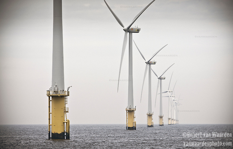 The offshore windpark, Egmond aan Zee.