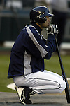 Seattle Mariners' Ichiro Suzuki waits his turn to take hits before their game against the Texas Rangers in Seattle, Washington on Tuesday, 27 September, 2005. With 196 hits Ichiro hopes to collect four hits to reach 200 hits this season in this series against the Texas Rangers.  He is close to becoming the only man  to open a career with five 200-hit seasons. (Jim Bryant Photo. ©2010. ALL RIGHTS RESERVED.