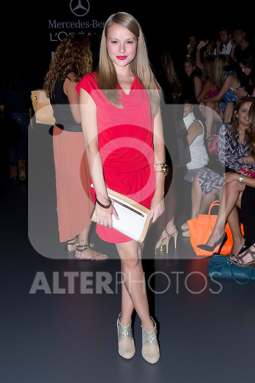 03.09.2012. Celebrities attending the Dolores Cortes and Guillermina Baeza fashion show during the Mercedes-Benz Fashion Week Madrid Spring/Summer 2013 at Ifema. In the image Esmeralda Moya (Alterphotos/Marta Gonzalez)
