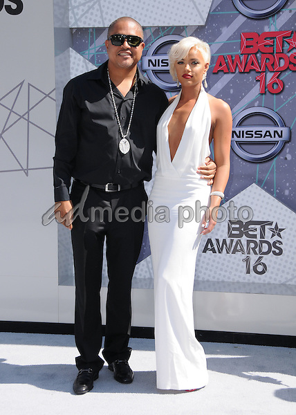 26 June 2016 - Los Angeles. Irv Gotti, Ashley Martelle. Arrivals for the 2016 BET Awards held at the Microsoft Theater. Photo Credit: Birdie Thompson/AdMedia