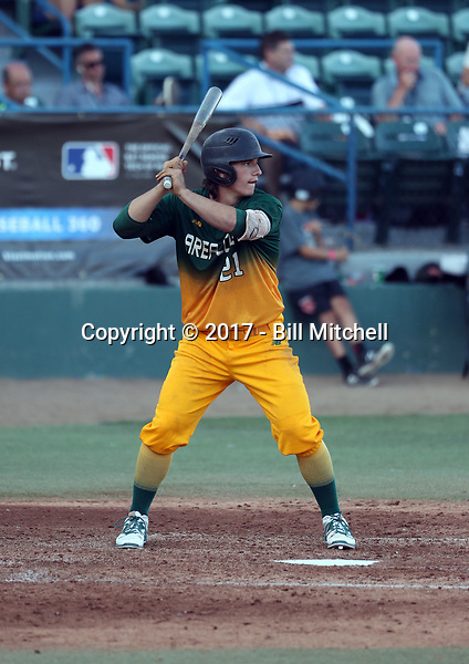 Matt Clayton plays in the 2017 Area Code Games on August 6-10, 2017 at Blair Field in Long Beach, California (Bill Mitchell)