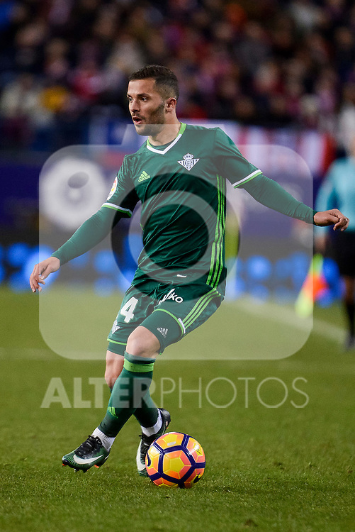 Real Betis's Ruben Castro during La Liga match between Atletico de Madrid and Real Betis at Vicente Calderon Stadium in Madrid, Spain. January 14, 2017. (ALTERPHOTOS/BorjaB.Hojas)