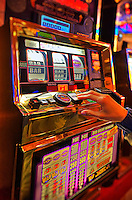 Gambling at casino slot machines, Atlantic City, New Jersey
