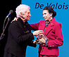 The Critics' Circle National Dance Awards 2016 <br /> at the Lilian Baylis Studio, Sadler's Wells, London, Great Britain <br /> <br /> 6th February 2017 <br /> <br /> Dame Monica Mason presents the De Valois Award to Dame Beryl Grey <br /> <br /> <br /> Photograph by Elliott Franks <br /> Image licensed to Elliott Franks Photography Services