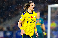 9th November 2019; King Power Stadium, Leicester, Midlands, England; English Premier League Football, Leicester City versus Arsenal; David Luiz of Arsenal - Strictly Editorial Use Only. No use with unauthorized audio, video, data, fixture lists, club/league logos or 'live' services. Online in-match use limited to 120 images, no video emulation. No use in betting, games or single club/league/player publications