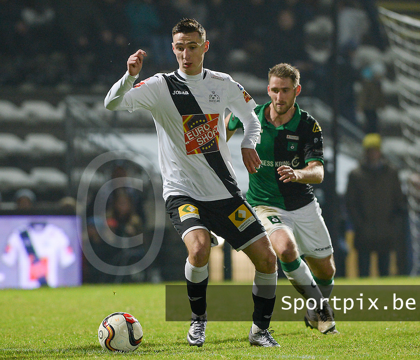 20161217 - ROESELARE , BELGIUM : pictured during the Proximus League match of D1B between Roeselare and Cercle Brugge, in Roeselare, on Saturday 17 December 2016, on the day 20 of the Belgian soccer championship, division 1B. . SPORTPIX.BE | DAVID CATRY