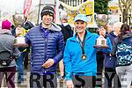 Garry O'Hanlon and Maggie Carlin, Ballyheigue runners at the Kerry's Eye Tralee, Tralee International Marathon and Half Marathon on Saturday.