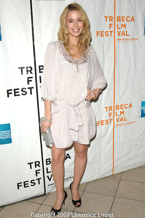 "Actress Alona Tal arrives at the premiere of ""Taking 5"" April 28, 2007, at AMC 34th Street during the Tribeca Film Festival in New York City. (Pictured : ALONA TAL)."