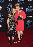 LOS ANGELES, CA - NOVEMBER 29: Caroline Rhea (R) and Ava Rhea attend the Premiere Of Disney's 'Mary Poppins Returns' at El Capitan Theatre on November 29, 2018 in Los Angeles, California.<br /> CAP/ROT/TM<br /> &copy;TM/ROT/Capital Pictures