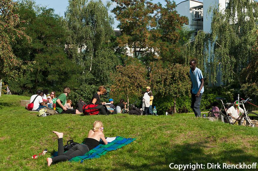 Schanzenpark im Schanzenviertel, Hamburg, Deutschland