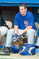 Pulaski Blue Jays right fielder Travis Snyder (34) waits for his turn to hit versus the Burlington Indians at Burlington Athletic Park in Burlington, NC, Saturday, July 29, 2006.  The Indians defeated the Blue Jays by the score of 8-4.