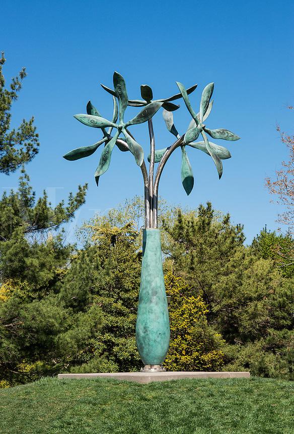 Flower sculpture, Grounds for Sculpture, Hamilton, New Jersey, USA