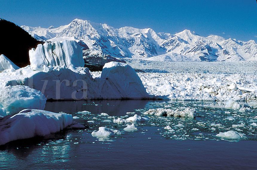 The Columbia Glacier in Prince William Sound. Alaska.