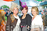 Pictured at Listowel Races, Ladies Day on Friday from left: Sharon Heffernan (Tralee),  Nora Buckley (Finuge) and Ann Kennelly (Lisselton).