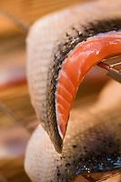 Europe/France/Aquitaine/64/Pyrénées-Atlantiques/Béarn/Pau: chez Jean-Marc Casteigt, fumeur de saumon, Maître Artisan Saurisseur - les filets de saumon crus avant salage et fumage