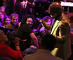 "BeBe Winans and mom on stage during a Song preview performance of the BeBe Winans Broadway Bound Musical ""Born For This"" at Feinstein's 54 Below on November 5, 2018 in New York City."