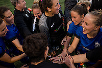Seattle, Washington - Saturday, July 2nd, 2016: Seattle Reign FC after a regular season National Women's Soccer League (NWSL) match between the Seattle Reign FC and the Boston Breakers at Memorial Stadium. Seattle won 2-0.
