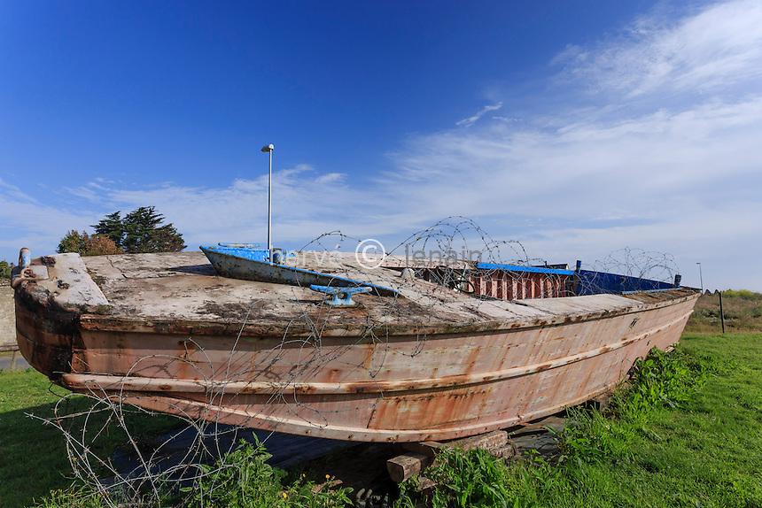 France, Calvados (14), Vierville-sur-Mer, le musée D-Day Omaha, péniche de débarquement // France, Calvados, Vierville sur Mer, D-Day Omaha Museum, landing craft