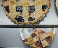 NWA Democrat-Gazette/J.T. WAMPLER House made pies are on display Thursday Feb. 2, 2017 at the Oark General Store. The store was established in 1890 and is on the Register of Historical Places in Arkansas.