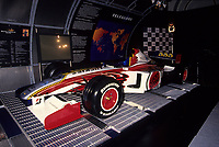 """July 9 1999 file Photo - Montreal, Quebec, CANADA - Formula One driver Jacques Villeneuve""""s car at the news conference  for BAR team"""