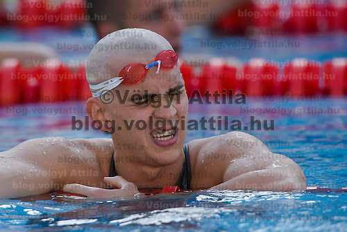 Laszlo Cseh (HUN) competes in the 200 m Men's Individual Medley Swimming competition during the 13th FINA Swimming World Championships held in Rome, Italy. Thursday, 30. July 2009. ATTILA VOLGYI