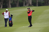 Liang Wenchong (CHN) on the 18th fairway during Round 3 of the UBS Hong Kong Open, at Hong Kong golf club, Fanling, Hong Kong. 25/11/2017<br /> Picture: Golffile | Thos Caffrey<br /> <br /> <br /> All photo usage must carry mandatory copyright credit     (&copy; Golffile | Thos Caffrey)