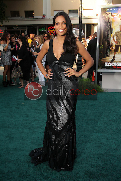 Rosario Dawson<br /> at the &quot;Zookeeper&quot; Premiere, Regency Village Theater, Westwood, CA. 07-06-11<br /> David Edwards/DailyCeleb.com 818-249-4998